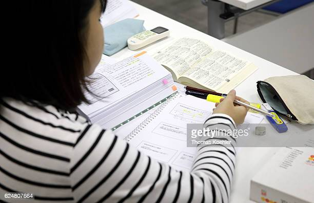 A Vietnamese Student during a tutorial at the Hanoi Law University on October 31 2016 in Hanoi Vietnam