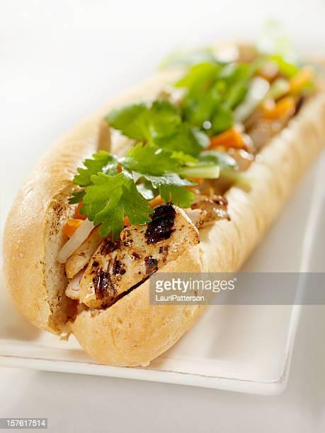 Vietnamese Sub Sandwich with Grilled Chicken