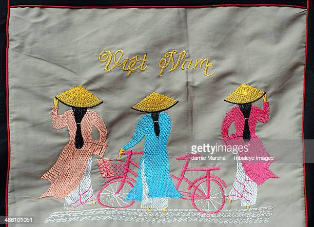 Vietnamese tourist embroidery
