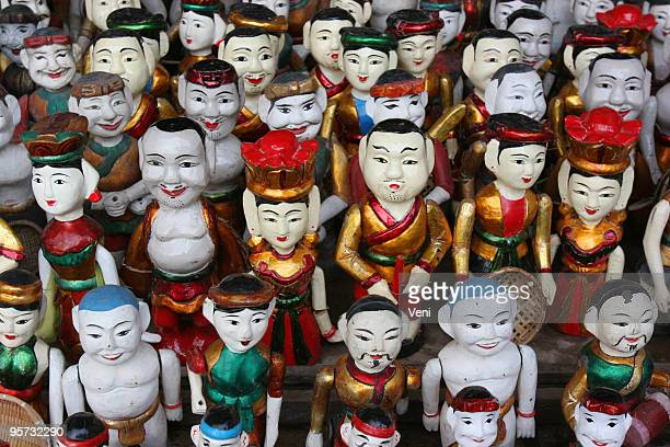 vietnamese water puppets - hanoi stock pictures, royalty-free photos & images