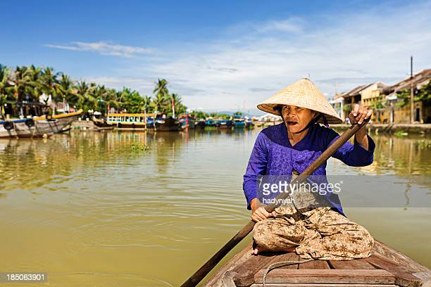 Vietnamese water taxi in Hoi An