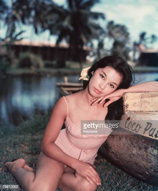 VietnameseFrench actress France Nuyen during a break in filming 'South Pacific' in which she plays Liat 1958