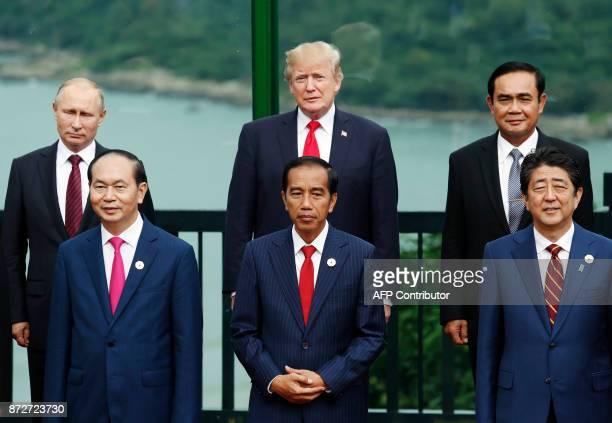 Vietnam's President Tran Dai Quang Indonesia's President Joko Widodo Japan's Prime Minister Shinzo Abe Russia's President Vladimir Putin US President...