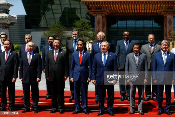 Vietnam's President Tran Dai Quang Russian President Vladimir Putin Chinese President Xi Jinping Indonesia's President Joko Widodo Kazakhstan...
