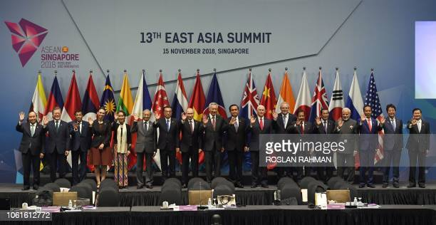Vietnam's Prime Minister Nguyen Xuan Phuc South Korea's President Moon Jaein Philippine President Rodrigo Duterte New Zealands Prime Minister Jacinda...