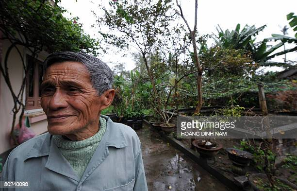 VietnamwarUSanniversary by Aude Genet My Lai massacre survivor Pham Dat stands in front of his home at My Lai village in the central province of...