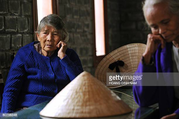 VietnamwarUSanniversary by Aude Genet My Lai massacre survivors Ha Thi Quy and Pham Thi Thuan are pictured at the massacre museum at My Lai village...