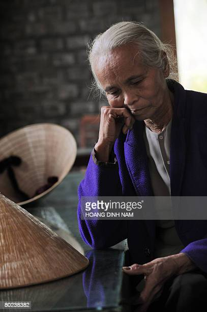 VietnamwarUSanniversary by Aude Genet My Lai massacre survivors Pham Thi Thuan is pictured at the massacre museum at My Lai village in the central...
