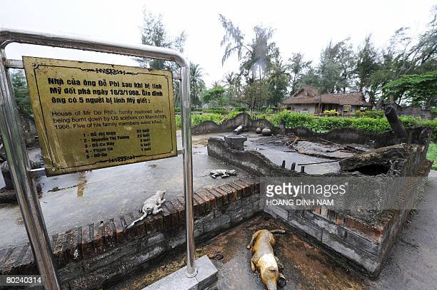 Vietnam-war-US-anniversary by Aude Genet This picture taken March 7, 2008 shows what is re-created as the foundation of a destructed home whose five...