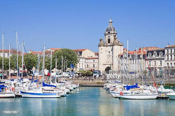 vieux port, the harbour, la rochelle, charente-maritime, france - la rochelle stock pictures, royalty-free photos & images