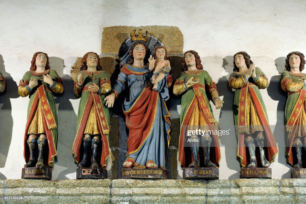 Vieux-Marche (Brittany, north-western France): the Seven Saints' Chapel, dedicated to the Seven Sleepers of Ephesus, was erected in the beginning of the XVIIIth century on a dolmen-crypt.