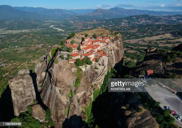 View a Great Meteoron or Monastery of the Transfiguration of Christ Meteora in Greece