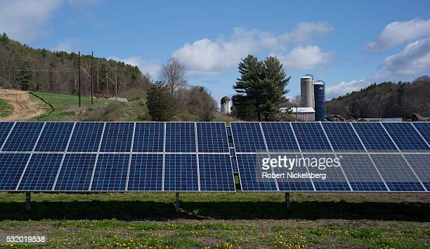 View a privatelyowned array of solar panels near a dairy farm St George Vermont May 9 2016