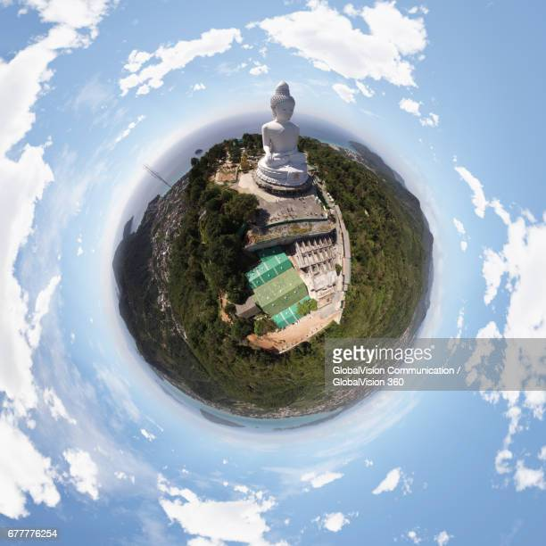 360° View above the Big Buddha Phuket in Thailand
