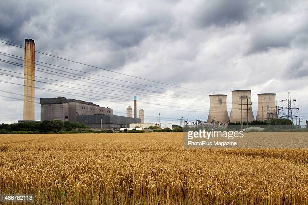 A view across a wheat field to Didcot Power Station in Oxfordshire taken on August 13 2012