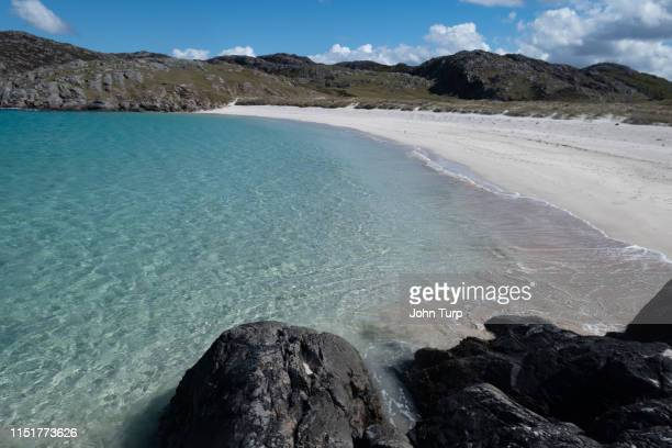 View across Achmelvich Bay on the north west coast of Scotland