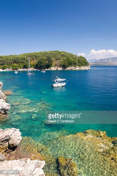 View across Agni Bay, Kalami, Corfu, Greece