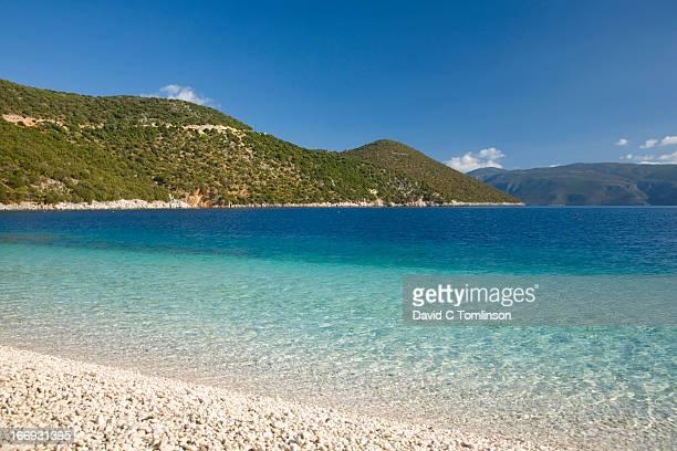View across Antisamos Bay, Sami, Kefalonia, Greece
