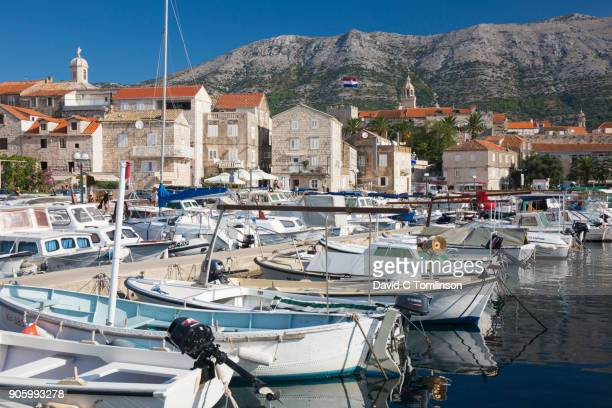 View across busy harbour, Korcula, Croatia