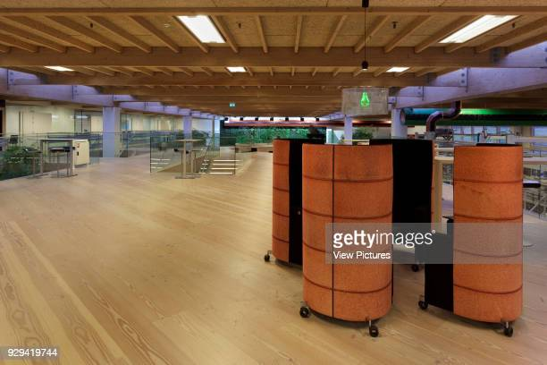 View across first floor with sheltered seats in foreground IBC Innovation Factory Kolding Denmark Architect schmidt hammer lassen architects 2012