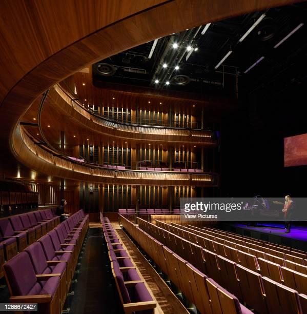View across Linbury Theatre during rehearsal. Royal Opera House, London, United Kingdom. Architect: Stanton Williams, 2018.