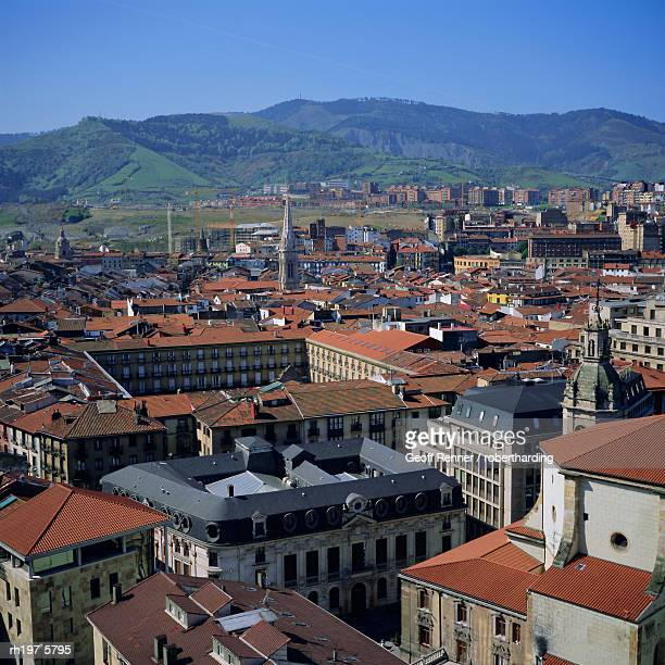 view across old town, bilbao, capital of the basque province of vizcaya (pais vasco), spain, europe - pais ストックフォトと画像