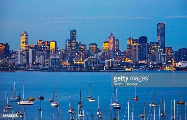 View across Port Phillip Bay towards the city