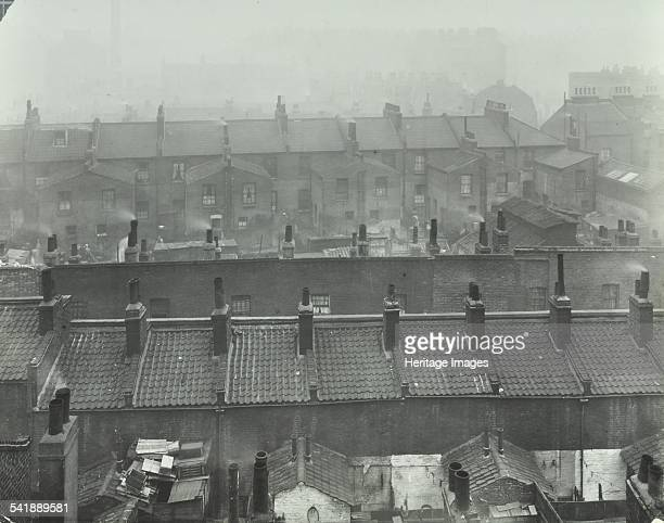 View across roof tops Brady Street looking South from top of Somerford Street School Bethnal Green London 1923 A View across roof tops showing an...