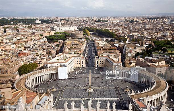 View across St. Peters Basilica, Vatican City,