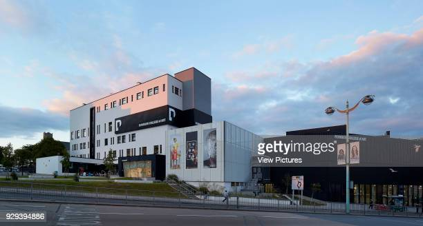 View across street towards building and campus Plymouth College of Art Plymouth United Kingdom Architect Feilden Clegg Bradley Studios LLP 2016