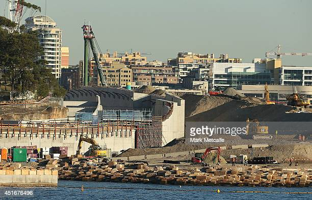 A view across Sydney Harbour to the development site at Barangaroo on July 4 2014 in Sydney Australia Barangaroo is an inner city suburb of Sydney...