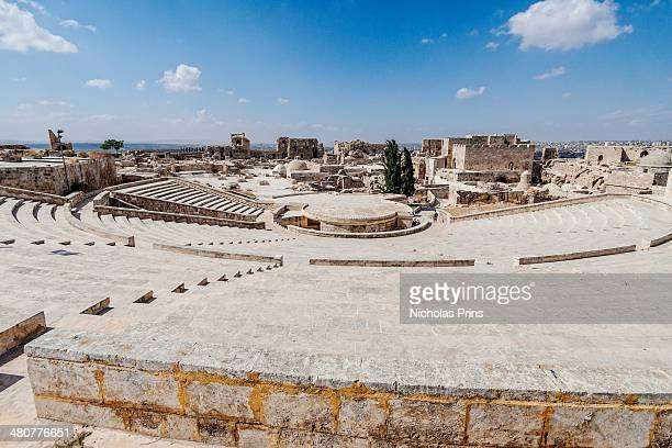View across the amphitheatre atop The Citadel. Aleppo, Syria