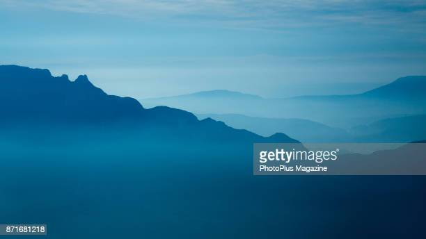 View across the Bauges Mountains in eastern France, taken on October 12, 2016.