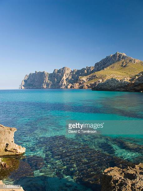View across the bay, Cala Sant Vicenc, Mallorca