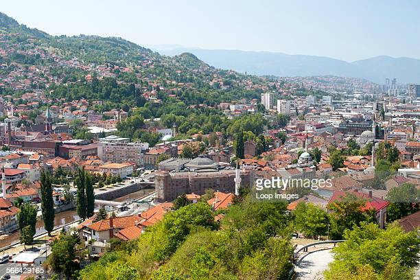 View across the Bosnia and Herzegovina capital city of Sarajevo.