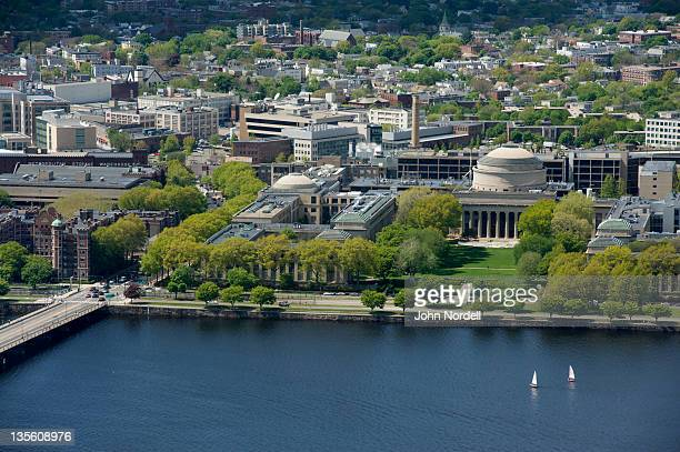 view across the charles river at the campus of m.i.t (massachusetts institute of technology), cambridge, ma - cambridge massachusetts stock pictures, royalty-free photos & images