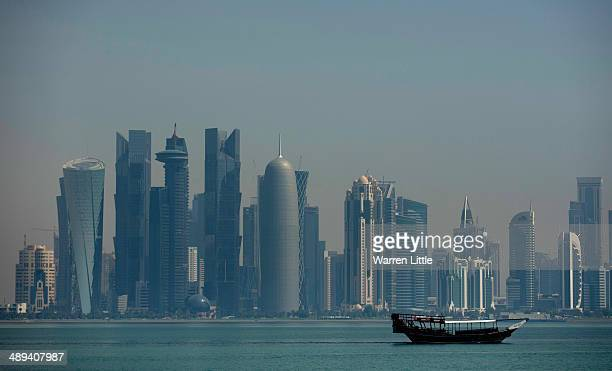 A view across the city of Doha on May 9 2014 in Doha Qatar