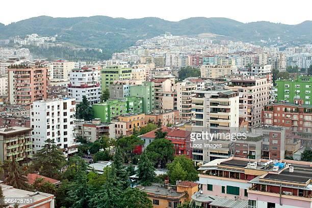 View across the city of Tirana.