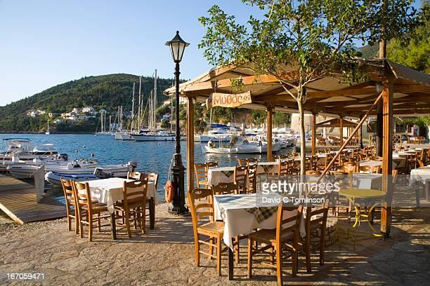 View across the harbour, Kioni, Ithaca, Greece