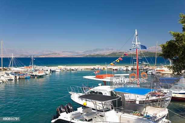 View across the harbour, Kouloura, Corfu, Greece