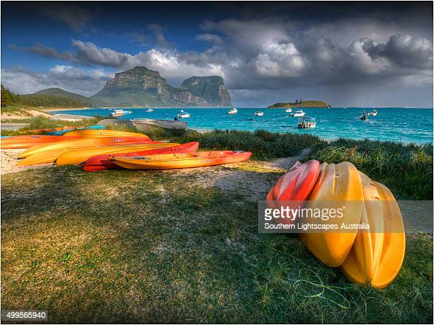 View across the lagoon at Lord Howe Island