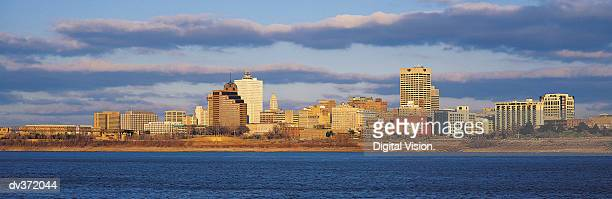 View across the Mississippi of Memphis, Tennessee, USA