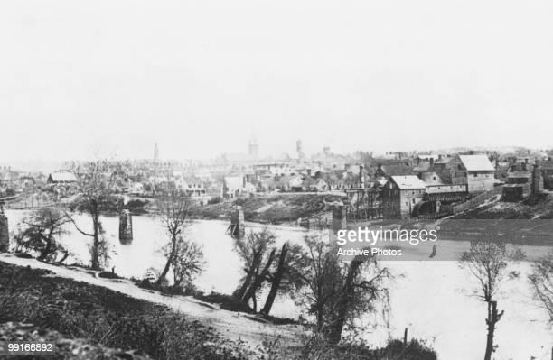 A view across the Rappahannock River Fredricksburg Virginia on 1 February 1863
