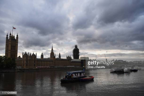 A view across the River Thames to the Houses of Parliament on September 25 2019 in London England Yesterday the Supreme Court ruled that the...
