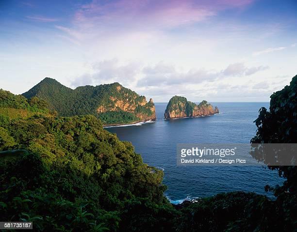 View across the Southeastern coastline of American Samoa