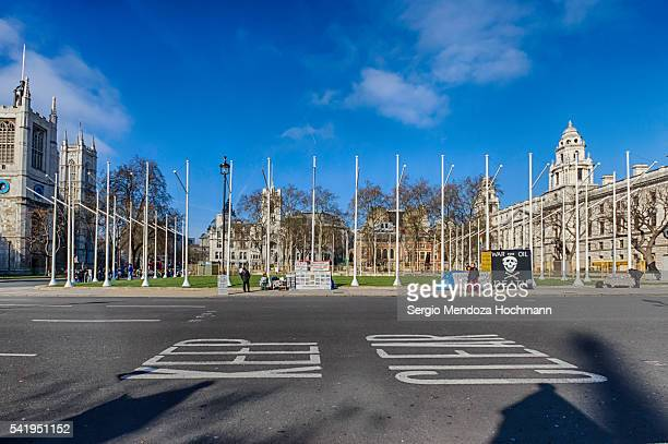A view across the street from Parliament Square, London