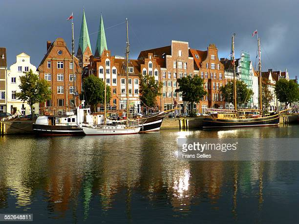 View across the Trave on Lübeck city