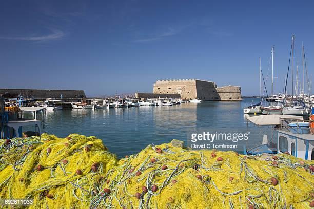 View across the Venetian Harbour, Iraklio, Crete