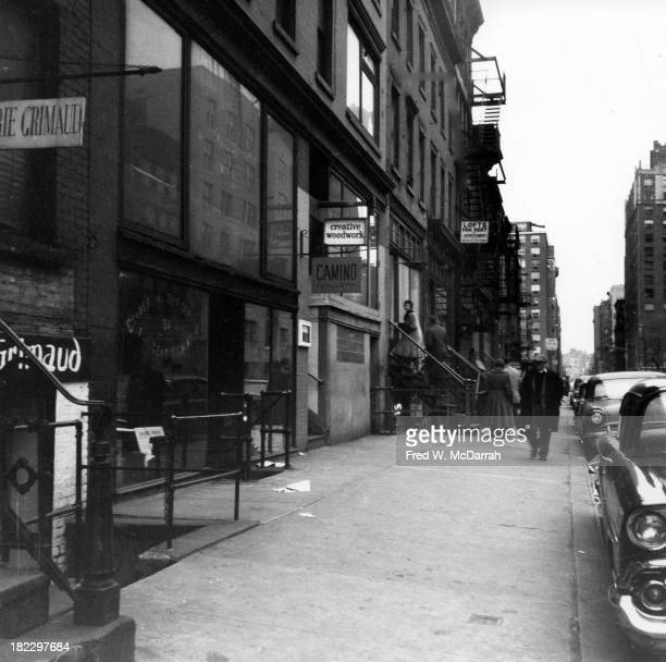 View along 10th Street looking west from 3rd Avenue New York New York January 24 1959