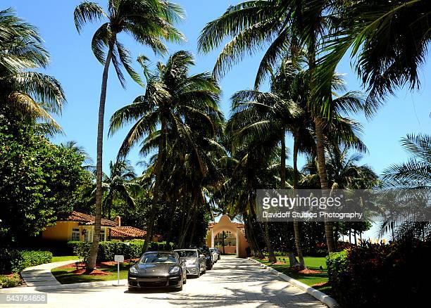 View along a driveway on the MaraLago estate Palm Beach Florida April 10 2016